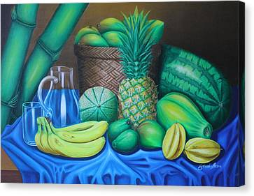 Tropical Fruits Canvas Print by Gani Banacia
