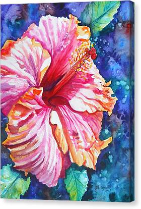 Tropical Hibiscus 4 Canvas Print