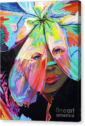 Canvas Print featuring the painting Tropical by Jodie Marie Anne Richardson Traugott          aka jm-ART