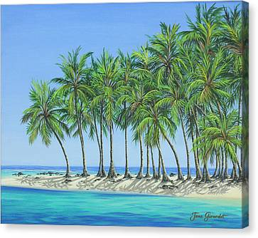 Canvas Print featuring the painting Tropical Lagoon by Jane Girardot