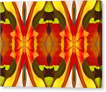 Tropical Leaf Pattern 13 Canvas Print by Amy Vangsgard