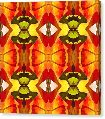Tropical Leaf Pattern 7 Canvas Print
