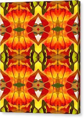 Tropical Leaf Pattern 8 Canvas Print by Amy Vangsgard