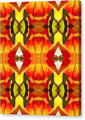 Tropical Leaf Pattern  9 Canvas Print by Amy Vangsgard