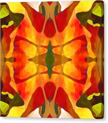 Tropical Leaf Pattern5 Canvas Print by Amy Vangsgard