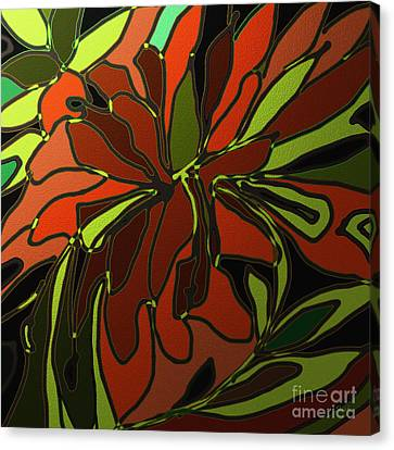 Tropical Leaves Canvas Print by Shesh Tantry