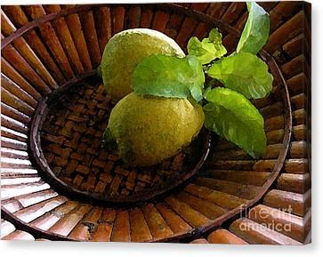 Tropical Lemons Canvas Print by James Temple