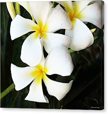 Tropical Life - Flower Painting Canvas Print by Sharon Cummings