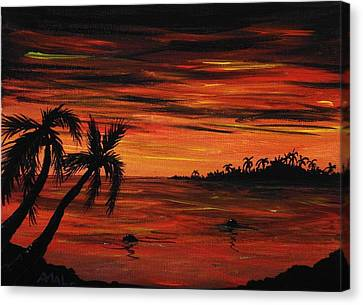 Tropical Night Canvas Print by Anastasiya Malakhova