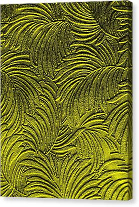 Tropical Palms - Peridot Green And Metallic Gold Canvas Print by Artistic Mystic