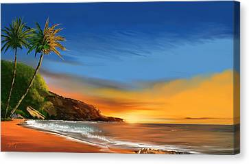 Tropical Paradise Canvas Print by Anthony Fishburne