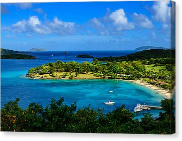 Canvas Print featuring the photograph Tropical Paradise In The Virgin Islands by Greg Norrell