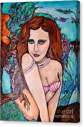 Tropical Paradise Mermaid Canvas Print by Valarie Pacheco
