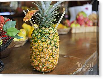 Tropical Pineapple Drink Canvas Print by Brandon Tabiolo