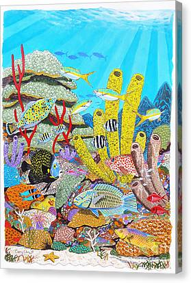 Tropical Reef Canvas Print by Carey Chen