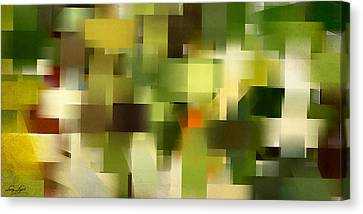 Tropical Shades - Green Abstract Art Canvas Print by Lourry Legarde