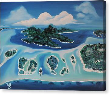 Canvas Print featuring the painting Tropical Skies by Dianna Lewis