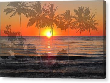 Tropical Spirits - Palm Tree Art By Sharon Cummings Canvas Print by Sharon Cummings