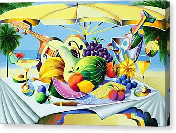 Tropical Still Life Canvas Print by Andrew Hewkin