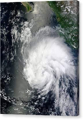 Tropical Storm Hernan Canvas Print by Nasa Goddard Modis Rapid Response Team