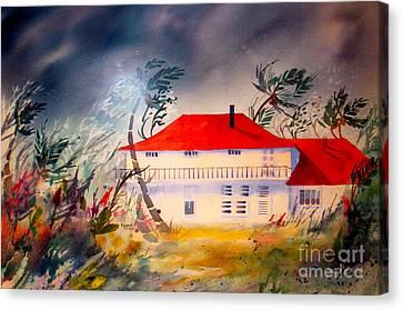 Tropical Storm Canvas Print by Teresa Ascone