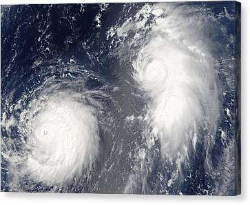 Tropical Storms, 2005 Canvas Print by Science Photo Library