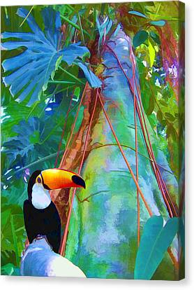 Tropical Toucan Canvas Print by Kathleen Holley