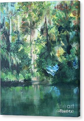 Canvas Print featuring the painting Tropical Treasure by Mary Lynne Powers