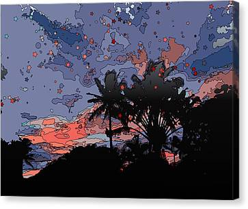 Tropical Twilight Canvas Print by Stacy Vosberg