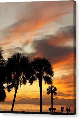 Canvas Print featuring the photograph Tropical Vacation by Laurie Perry