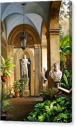 Tropical Veranda Canvas Print by Tim Davis