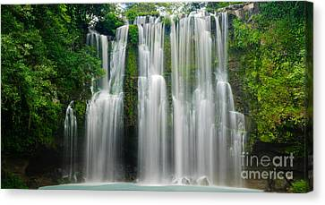 Tropical Waterfall Canvas Print by Oscar Gutierrez