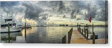 Tropical Winds In Orange Beach Canvas Print by Michael Thomas