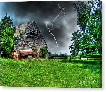Trouble Brewing Canvas Print