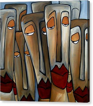 Abstract Art On Canvas Print - Trouble Brewing by Tom Fedro - Fidostudio