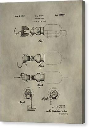Trouble Light Patent Canvas Print