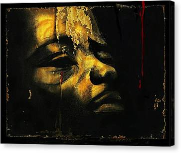 Troubled  Africa Canvas Print