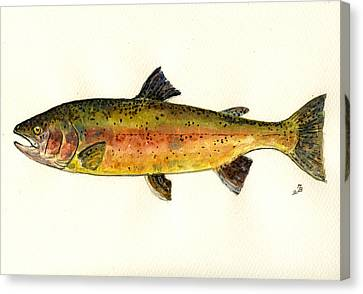 Trout Fish Canvas Print by Juan  Bosco