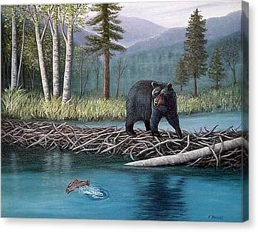 Trout Temptation Canvas Print by Fran Brooks