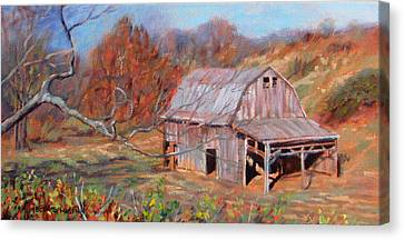 Troutville Barn Canvas Print by Bonnie Mason