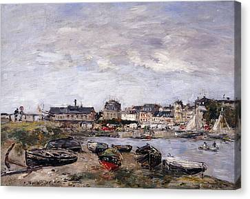 Trouville View Toward Deauville On Market Day Canvas Print