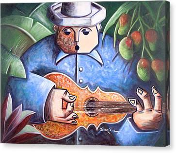 Trovador De Mango Bajito Canvas Print by Oscar Ortiz