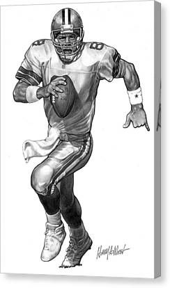 Troy Aikman Canvas Print by Harry West