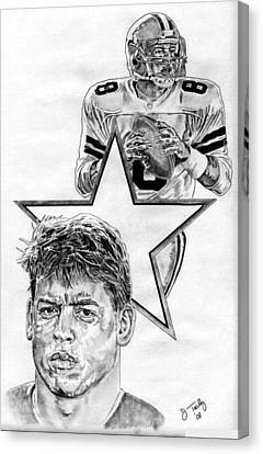 Troy Aikman Canvas Print by Jonathan Tooley