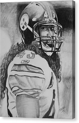Troy Polamolu Canvas Print by Jeremy Moore