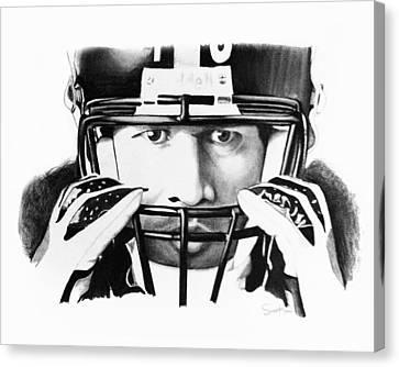 Steelers Canvas Print - Troy by Scott Karan