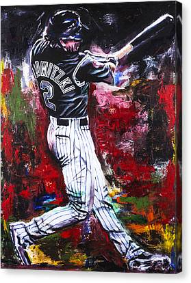 Troy Tulowitzki Canvas Print by Mark Courage