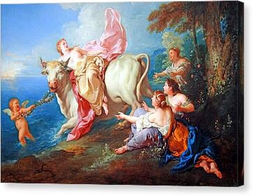 Canvas Print featuring the photograph Troy's The Abduction Of Europa by Cora Wandel