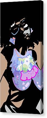 1984 Canvas Print - Tru America - Erykah Badu by Roberto Small