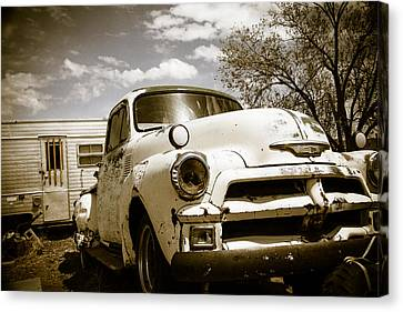 Canvas Print featuring the photograph Truck And Trailer by Steven Bateson